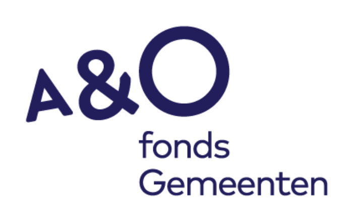 AO staand logo A&O fonds Gemeenten in donkerblauw