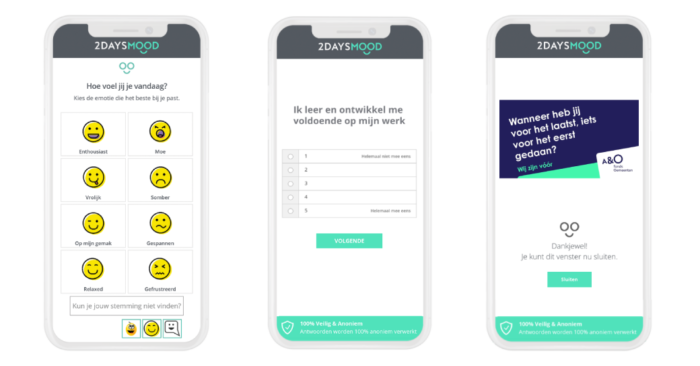 BRUIS meter Aen O vitaliteit 2 DAYSMOOD smartphone NL