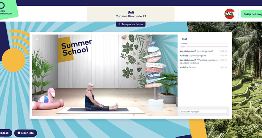 Summerschool 2020 platform Caroline Kimmerle online yoga