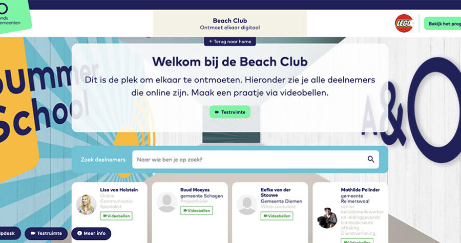 Summerschool 2020 platform beachclub